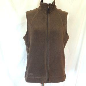 Womens Columbia Fleece Zip Up Vest Jacket Size Lar